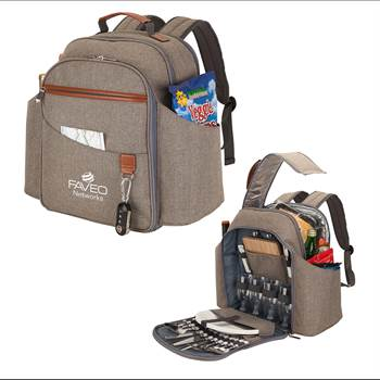 Carlsbad Picnic Set & Cooler Backpack - Personalization Available