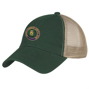 Washed Cotton Mesh Back Cap - Personalization Available