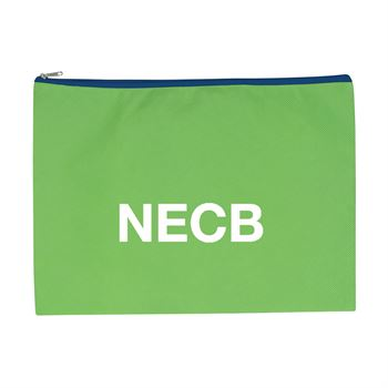 Non-Woven Document Sleeve With Zipper - Personalization Available