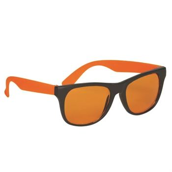 Tinted Lenses Rubberized Sunglasses - Personalization Available