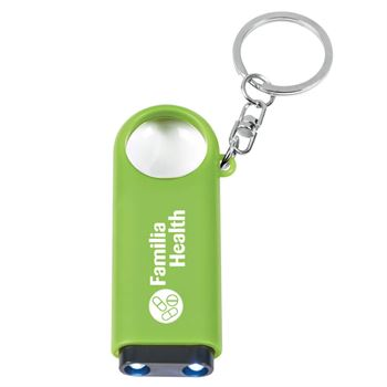 Magnifier And LED Light Key Chain - Personalization Available