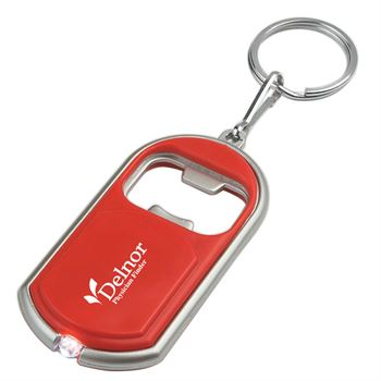 Bottle Opener Key Chain With LED Light - Personalization Available