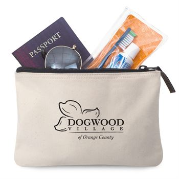 Avery Cotton Zippered Pouch - Personalization Available