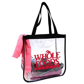 Clear Open Security Tote - Personalization Available