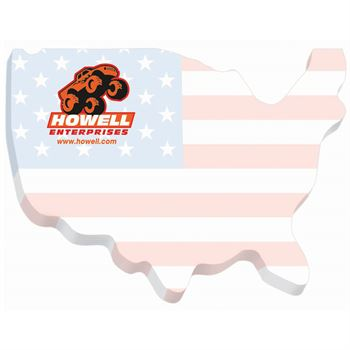 Die-Cut United States Sticky Note Pad - Personalization Available