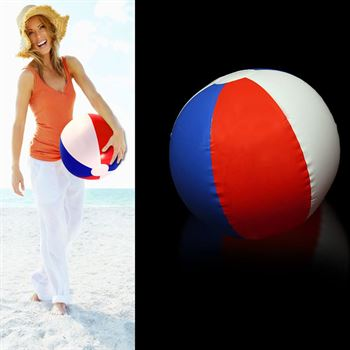 Patriotic Beach Ball - Personalization Available