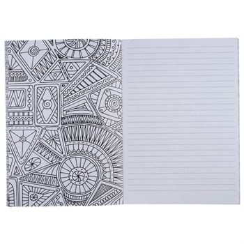 Doodle Adult Coloring Notebook - Personalization Available