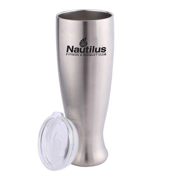 Stainless Steel Pilsner Shaped Bottle - Personalization Available