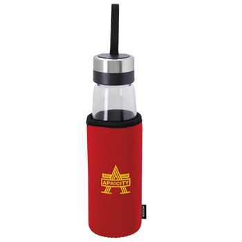 Glass Bottle With Koozie® Kooler 18-oz. - Personalization Available