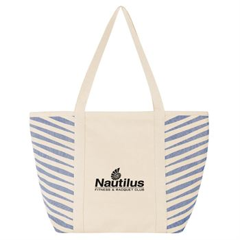 Zebra Colored Cotton Tote - Personalization Available