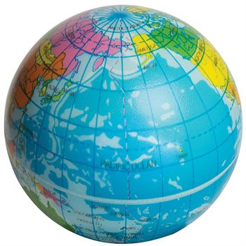 Squeezies® Printed Globe Stress Reliever - Personalization Available