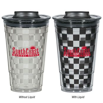 Color Changing Checker Tumbler 16-oz. - Personalization Available