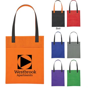 Non-Woven Turnabout Brochure Tote Bag - Personalization Available