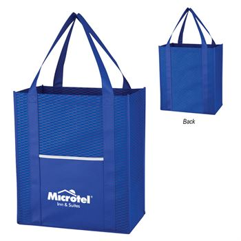 Non-Woven Wave Shopper Tote Bag - Personalization Available