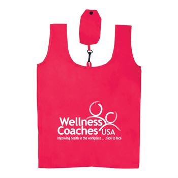 Polyester Folding Grocery Bag - Personalization Available