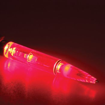 Red Plastic Light Pen - Personalization Available