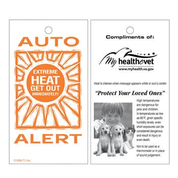 Car Interior Temperature Alert Card - Personalization Available