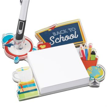 Teacher Acrylic Sticky Note Pad & Pen Holder - Personalization Available