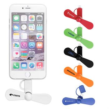 Mini USB Cellphone Fan - Personalization Available