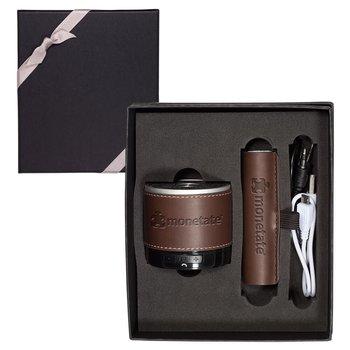 Tuscany Bluetooth Speaker & Cylinder Power Bank Gift Set
