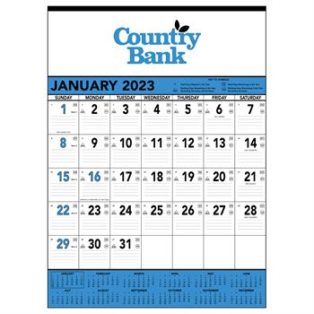 Blue & Black 2020 Contractor's Memo Calendar - Personalization Available