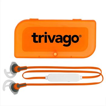 Sporty Bluetooth® Earbud with Magnetic Case - Personalization Available