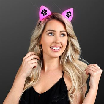 Pink Cat Ears Headband