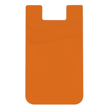 Dual Pocket Silicone Phone Wallet - Personalization Available