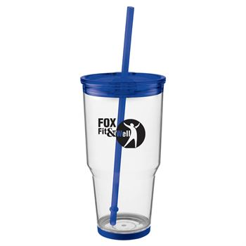 Biggie Tumbler With Straw  24-oz. - Personalization Available