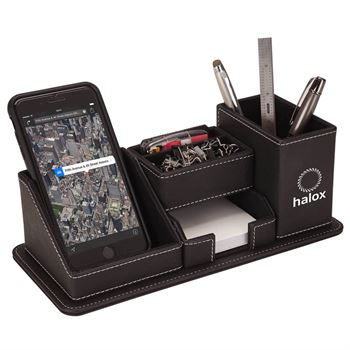 Oxford Desk Organizer With Phone Stand - Personalization Available