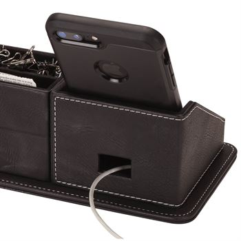 Oxford Desk Organizer With Phone Stand