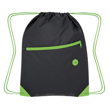 Color Pop Drawstring Bag - Personalization Available