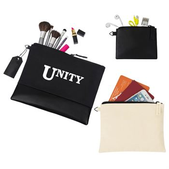 Avery Cotton Zippered 3-Piece Pouch Set - Personalization Available