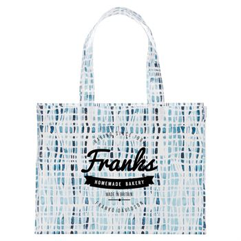 Cross Hatch Laminated Shopper Tote - Personalization Available