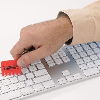 Silicone Keyboard Brush Key Ring - Personalization Available