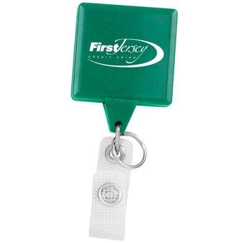 Hemp Jumbo Square Badge Reel - Personalization Available