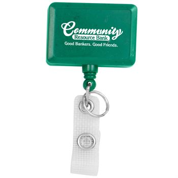 Hemp Jumbo Rectangle Badge Reel - Personalization Available