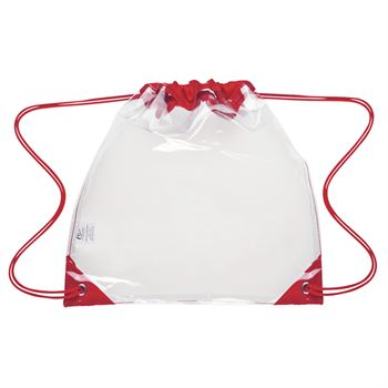 Touchdown Clear Drawstring Backpack - Personalization Available