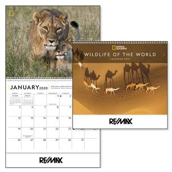 National Geographic Wildlife Of The World 2020 Deluxe Appointment Calendar - Spiral - Personalization Available