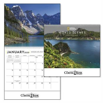 National Geographic World Scenes 2020 Deluxe Appointment Calendar - Spiral - Personalization Available