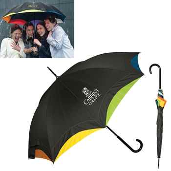 Rainbow Executive Umbrella - Personalization Available