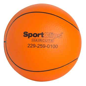 Slow Return Foam Basketball Squeezies Stress Reliever - Personalization Available