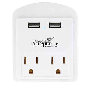 Modern USB Wall Adapter with Phone Holder - Personalization Available