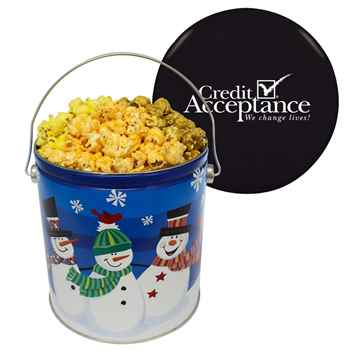 Gourmet Popcorn Trio In One Gallon Tin - Personalization Available