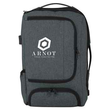 Heathered RFID Computer Backpack & Briefcase - Personalization Available