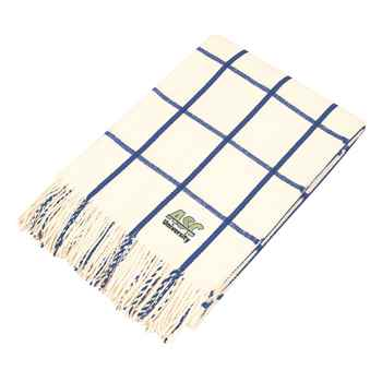 Charleston Fringed Throw Blanket - Personalization Available