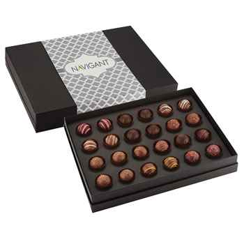 24-Piece Decadent Truffle Box - Personalization Available