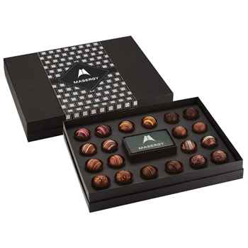 20-Piece Decadent Truffle Box - Personalization Available