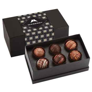 6-Piece Decadent Truffle Box - Personalization Available