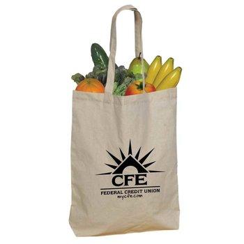 5.5-Oz. Cotton Shopper Tote Bag - Personalization Available